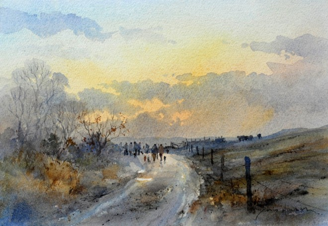'Heading home, Snargate' by David Howell