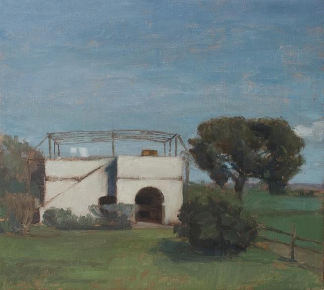 Ilaria Rosselli del Turco: 'Forno', oil on linen, 45x50cm