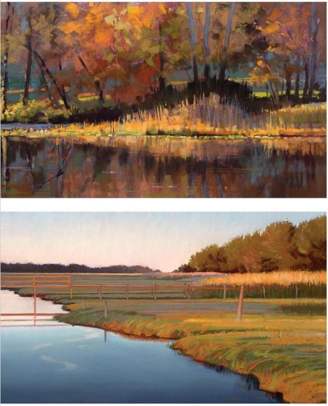 Liz Haywood-Sullivan  pastel paintings from the book