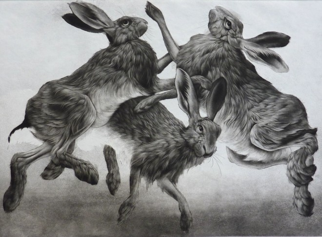 Clive Riggs: 'Spring', etching, aquatint and mezzotint