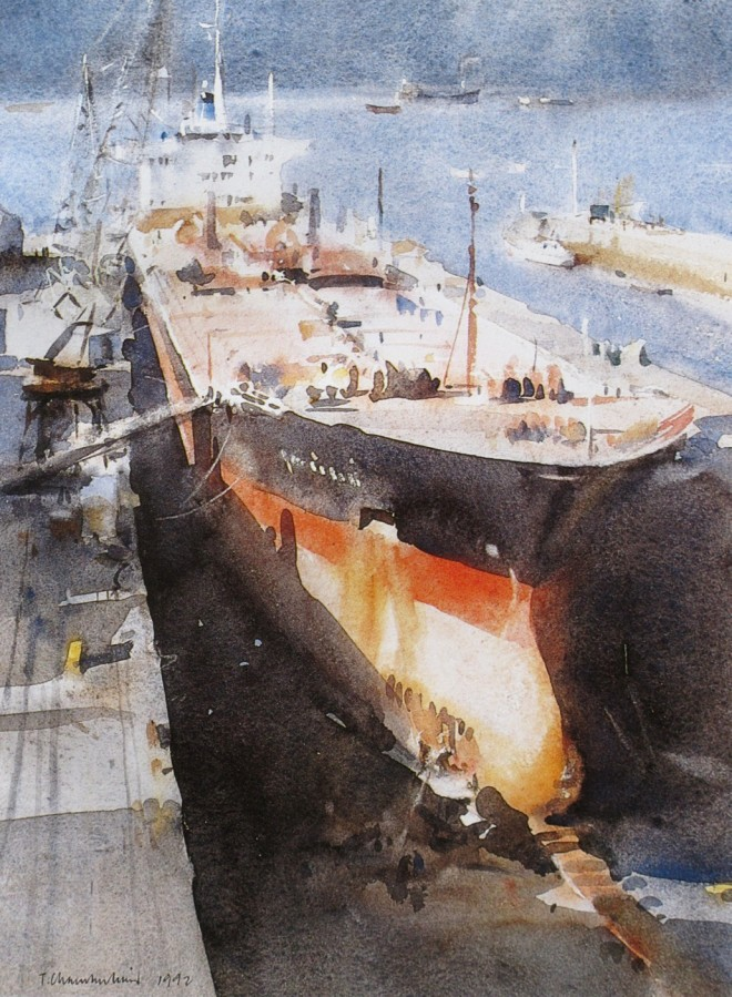 'Falmouth Dry Dock' by Trevor Chamberlain