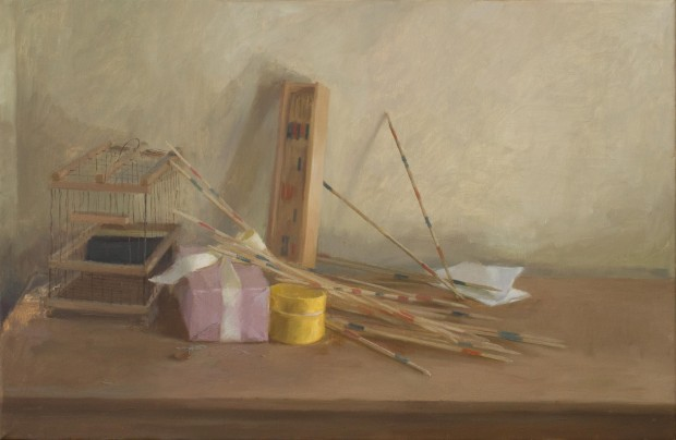 Ilaria Rosselli del Turco: 'Twopence', oil on linen, 50x76cm