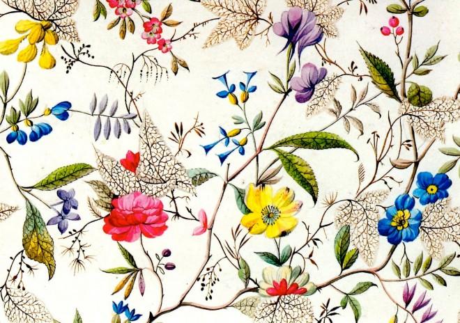'Flower Fabric Design' by William Kilburn