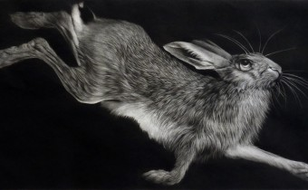 Clive Riggs: 'Winter', mezzotint