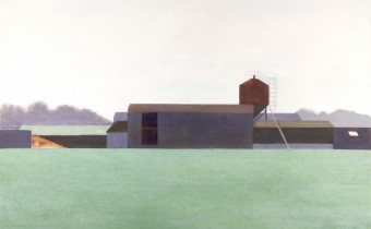 Andrew Lansley: 'Lydes Farm', Egg Tempera, 69 x 69 x 7 cm