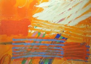 Albert Irvin, Pegasus, 1982 acrylic on canvas, 84 x 120 in / 213 x 305 cm