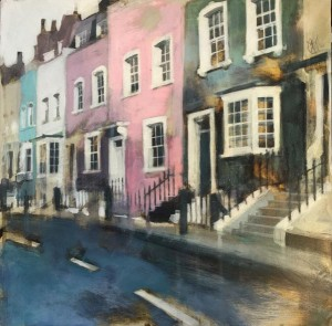Bywater Street, Chelsea, acrylic on gesso by Camilla Dowse