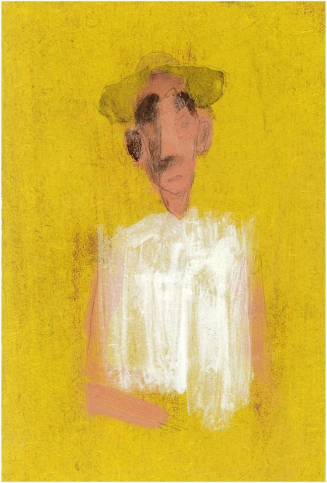 Simon Kirk: 'Pilon', Acrylic on Board, 10cm x 15cm, 2014