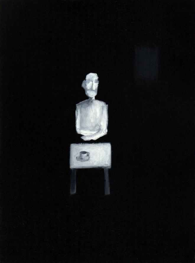 Simon Kirk: 'Claude', (RA Summer Exhibition 2015), oil on canvas, 28 x 22 x 3 cm
