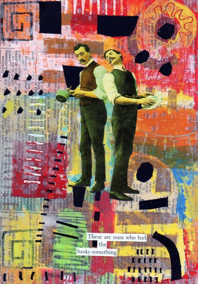 Simon Kirk: 'The Funky Something', Collage, 10cm x 15cm, 2014