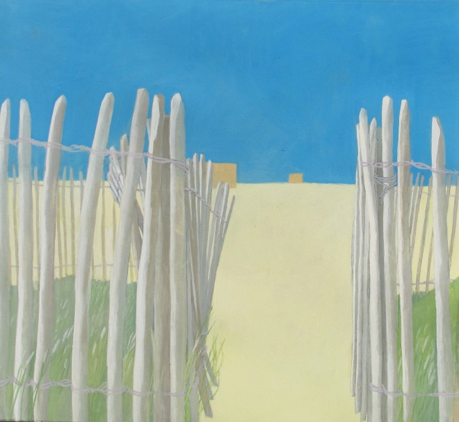 Wendy Jacob: 'Beach', gouache