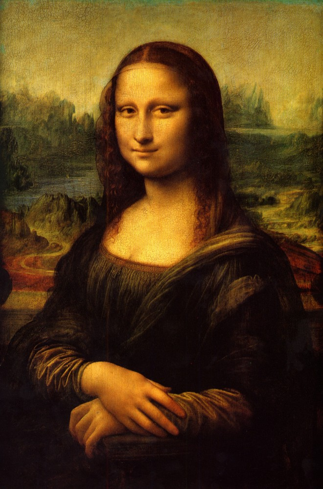 Years of hard work: Leonardo da Vinci's 'Mona Lisa' was supposedly started in 1503-6 and was worked on until 1517