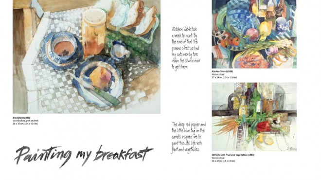 Shirley Trevena on painting her breakfast! (From 'Watercolours')