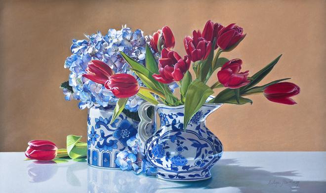 'Spring Symphony' by Arlene Steinberg, rendered in Neocolor II