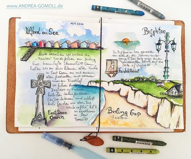 Andrea Gomoll: Sketchbook page with Neocolor II