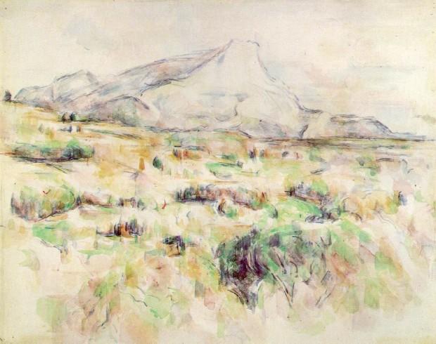 Paul Cezanne: 'Mont Sainte-Victoire seen from Les Lauves' (watercolour)