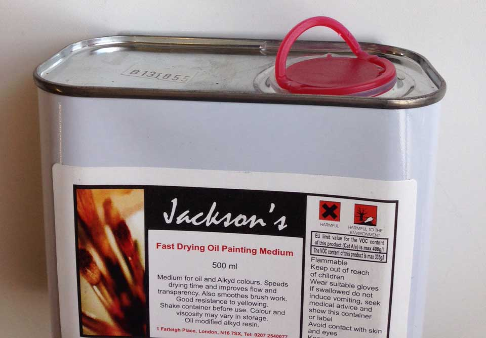 Jacksons Art Supplies oil painting medium containers openings