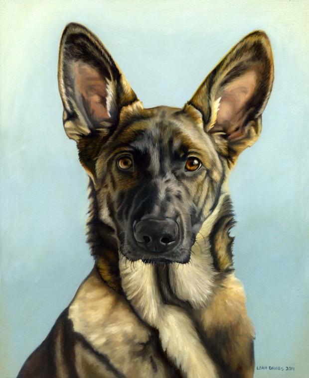Leah Davies: 'Lyla', oil on canvas