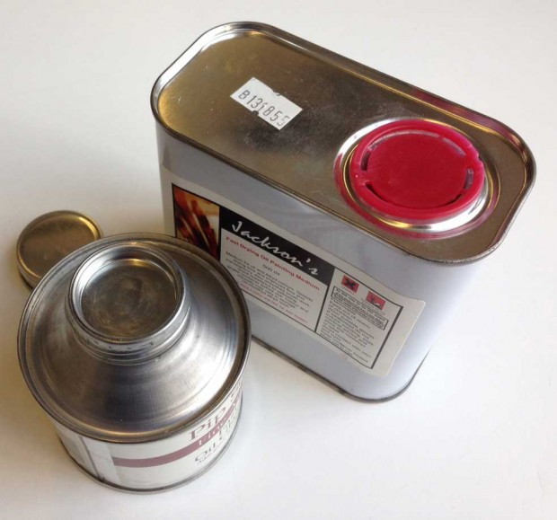 Jacksons Art Supplies oil painting mediums contain openings