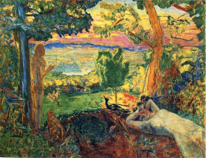Pierre Bonnard: 'Earthly Paradise', oil on canvas (1920)