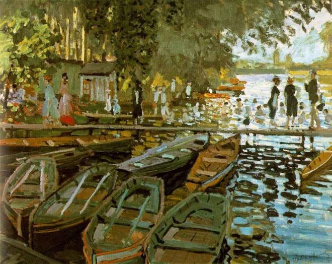 Claude Monet: 'Bathing at La Grenouillere', oil on canvas