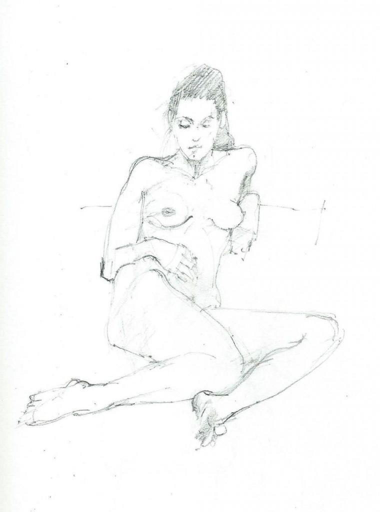 Clutch pencil sketch by Dennis Spicer