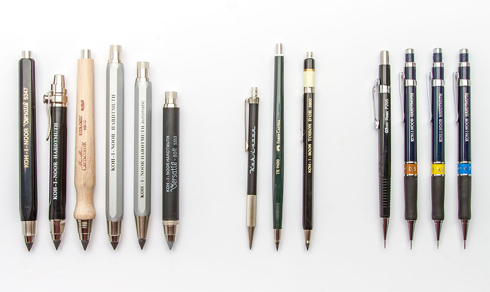 Clutch pencils of different kinds from jacksons art jacksonsart com