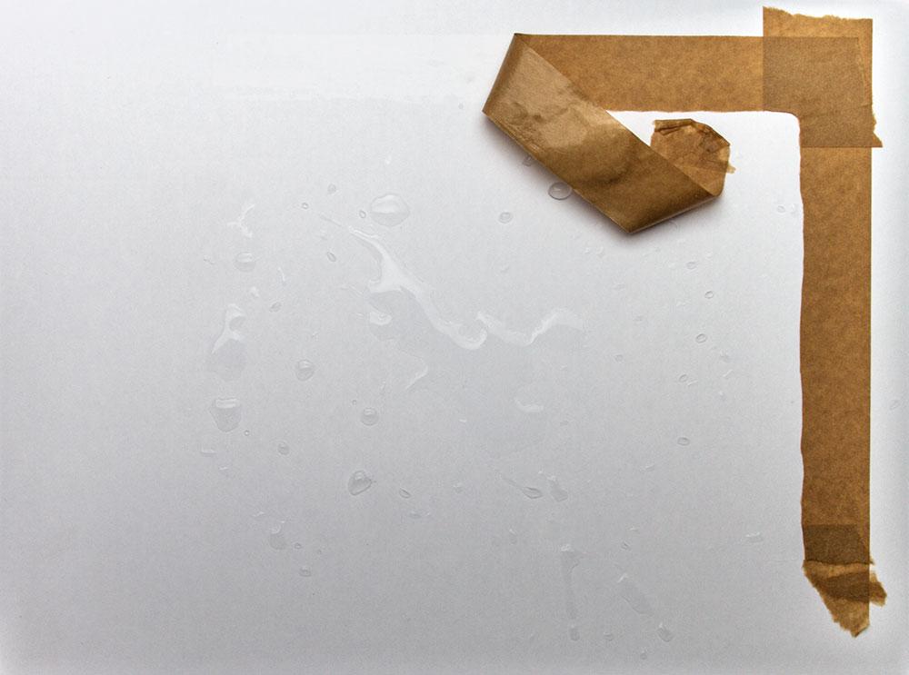 Gatorfoam Board removing gummed tape