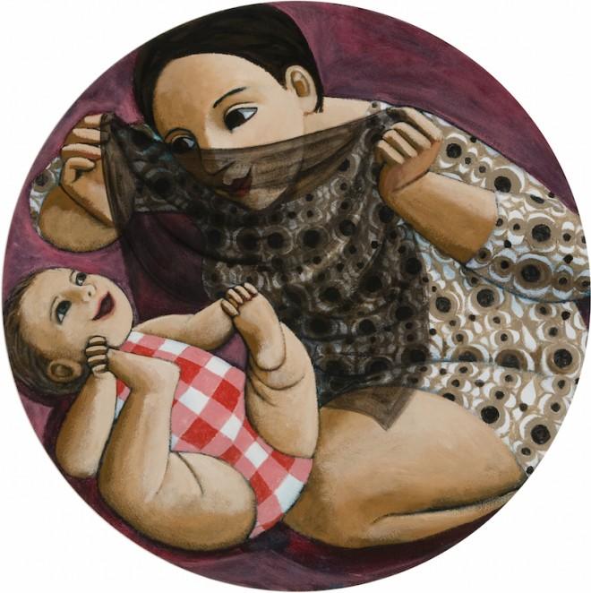 Anita Klein: 'Peek a Boo', acrylic on canvas, 80cm x 80cm, 2015