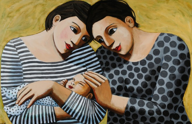 Anita Klein: 'The Grandchild', acrylic on canvas, 66 x 102cm, 2015
