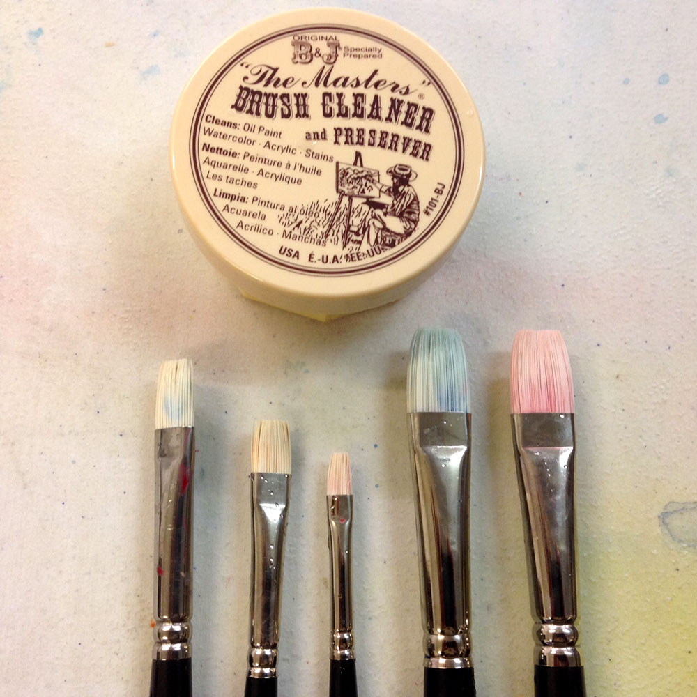 Jackson's Akoya Brushes  are much cleaner when washed with Master Brush Cleaner