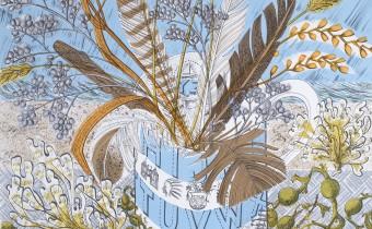 Angie Lewin: 'Shoreline', Screenprint, 72.5 x 56cm