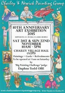 Chailey  & Newick Painting Group's 10th anniversary art exhibition