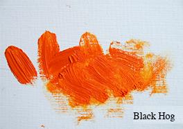 Jackson's Black hog brush for oil paint