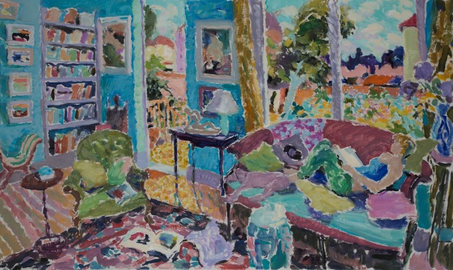 "Hugo Grenville: 'A Sunday In Summer', Oil on Canvas, 30"" x 50"""