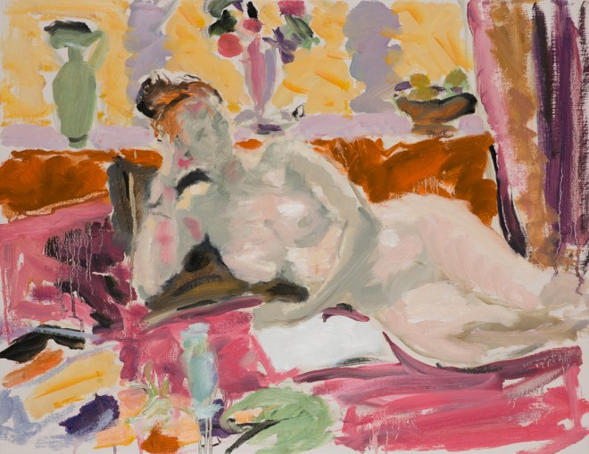 "Hugo Grenville: 'Study of a Resting Figure II', Oil on Canvas, 20"" x 26"""