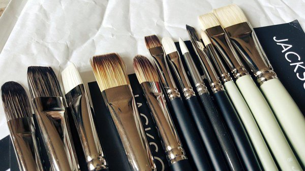 Jacksons oil paint Brushes