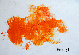 Jacksons Procryl artist oil paint brushes