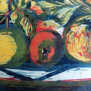 Eden Valley Apples  detail  woodcut