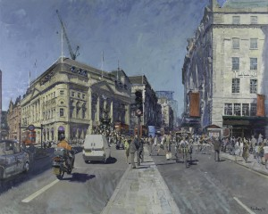 Peter Brown  'Piccadilly Circus, Summer Afternoon' oil painting