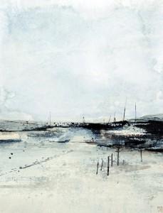 Tony Foster Burnham Morning Acrylic 30 x 23cm