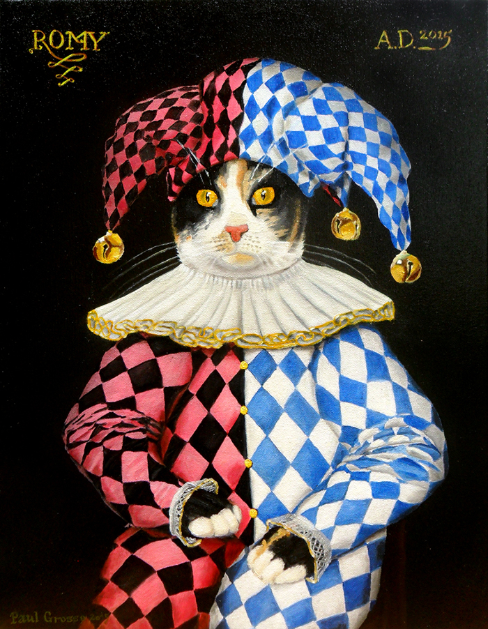 'Romy' by Paul Alan Grosse. Oil on stretched canvas, 2015, 14 x 18 inches.
