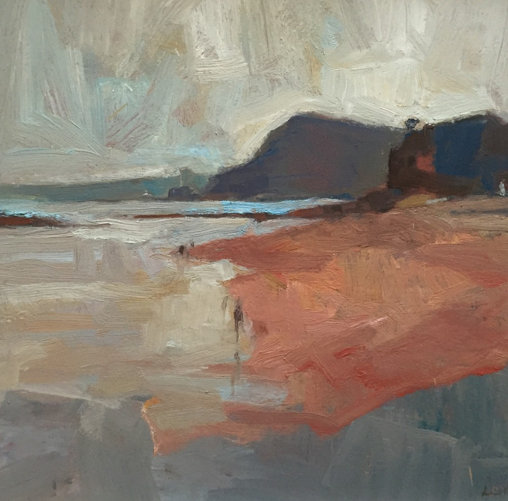Sidmouth at low tide oil on canvas, 40x40cm, 2015 Paul Bell