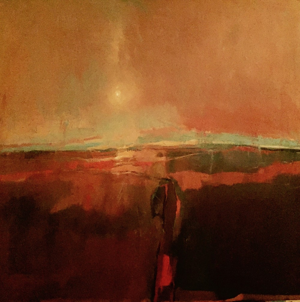 Winter Sky oil on canvas, 70x70cm, 2016 Paul Bell