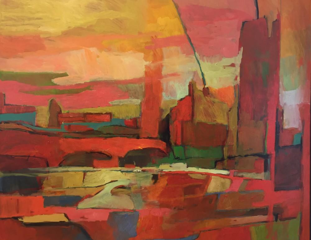 Railway Arches oil on canvas 150x120 cm, 2015 Paul Bell