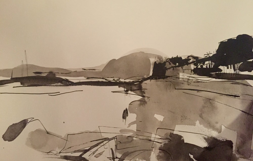 Sidmouth Sketch ink on paper, 25x20cm 2015 Paul Bell