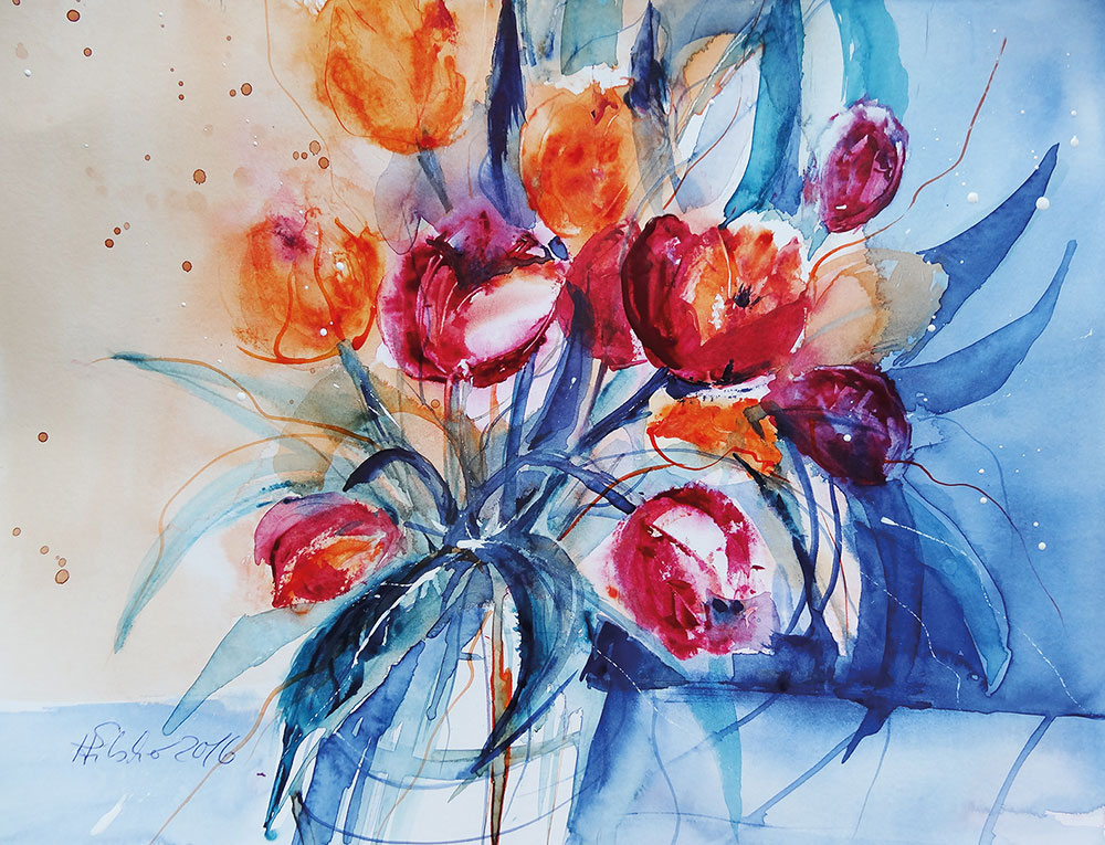 Watercolour Painting with a Palette Knife