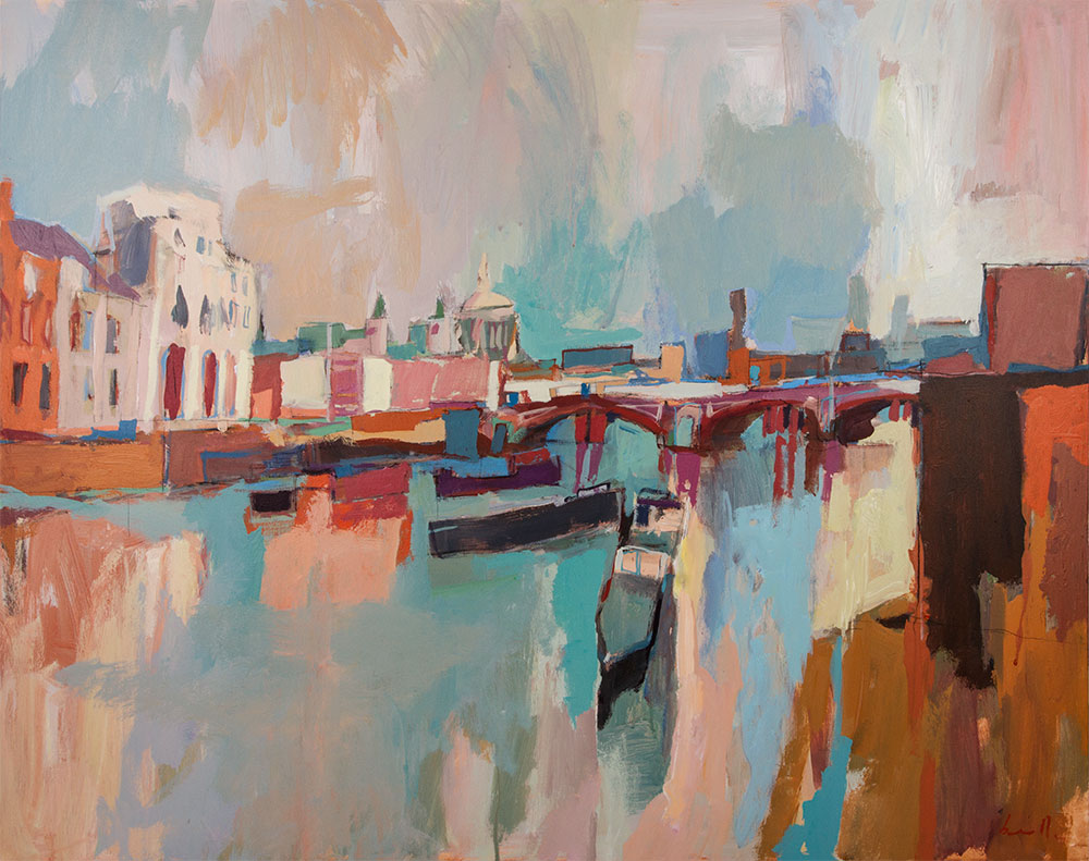 Thames at low tide Acrylic on canvas, 100x80cm 2015 Paul Bell