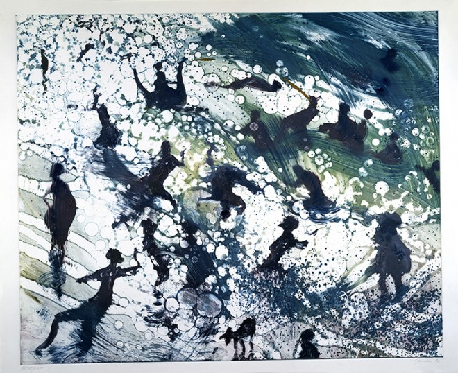 Bill Jacklin RA: Coney Island Untitled Monoprint, 1993, 34 x 47,