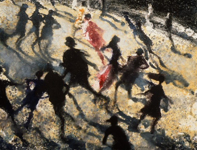 Bill Jacklin RA: 'The Rink', Monotype, 1995, 27.6 x 36cm